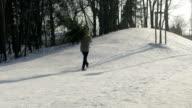 Man Carrying Christmas Tree video