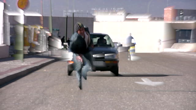 Man chased by car video