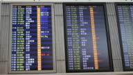 Man Checks Flight Departure Board At Airport video