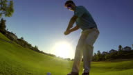 Man Chipping Ball While Golfing video
