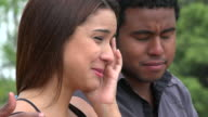 Man Consoling Woman Crying video