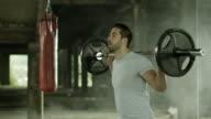 Man doing squats video