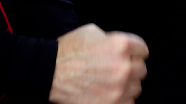 Man doing winning gesture video
