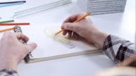 Man drawing a bulb light video