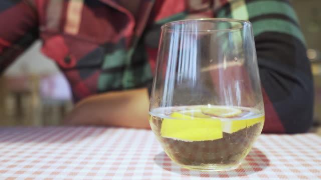 Man drinking lemonade. video