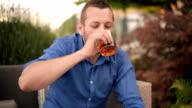 Man drinking whiskey video