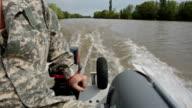 Man drives a motor boat video