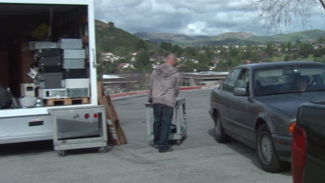 Man Emptying Car video