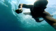 Man Enjoying Diving in the Blue Adriatic Sea video