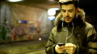 Man enjoying the music at the underground video