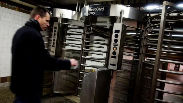 Man Enters Subway video