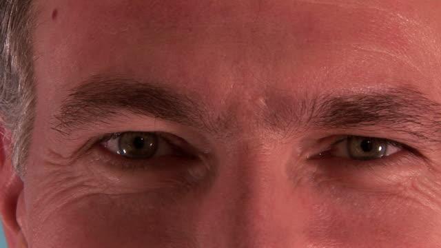 man eyes video