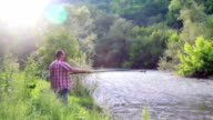 Man fishing video