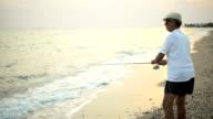 Man fishing. video