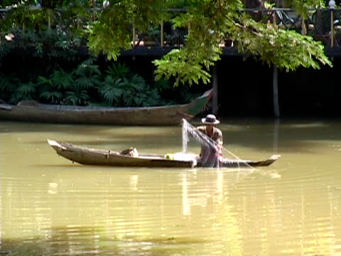 Man Fishing With Net video