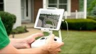 Man Flies Drone UAV in a Residential Neighborhood video