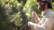 Man flyfishing in a river video