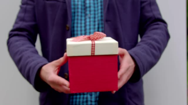A man gives you a gift. video