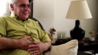 Man having abdominal pain video