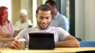 MS DS Man Having Video Call On Digital Tablet video