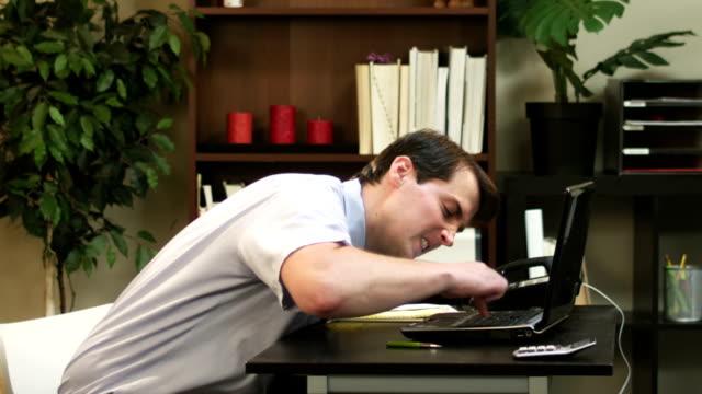 Man hits computer video