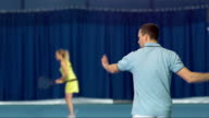 MS Man Hitting Forehand And Backhand Strokes video