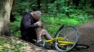 Man in accident with bicycle video