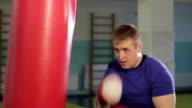 man in boxing hall video