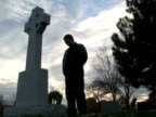 Man in Cemetery video
