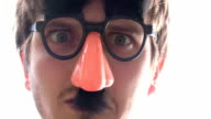 Man in Disguise looks around video