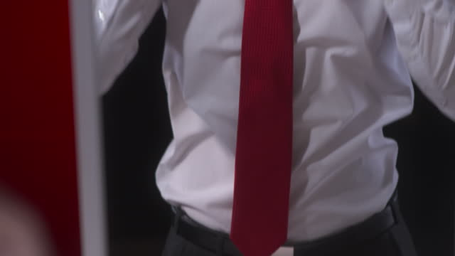HD: Man In Evening Wear Dressing Up video