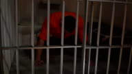 4K Man in Prison /Jail Cell doing Press Ups video