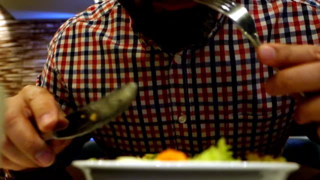 Man in restaurant video