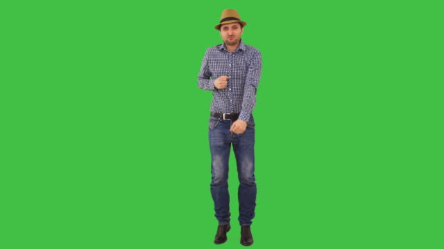 Man in straw hat dancing video