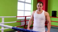 A man in the Boxing ring video