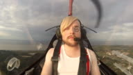 Man In The Cabin Of The Small Aircraft video