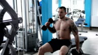 Man in the gym. video