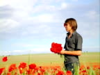man in the poppy field video