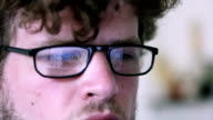 Man infront of a Computer video