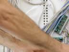 Man installing RG-6 coax cable (NTSC) video
