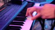 Man is playing the piano. Close up video