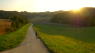 AERIAL Man Jogging In The Countryside video