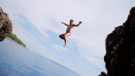 SLO MO Man Jumping Into The Sea video