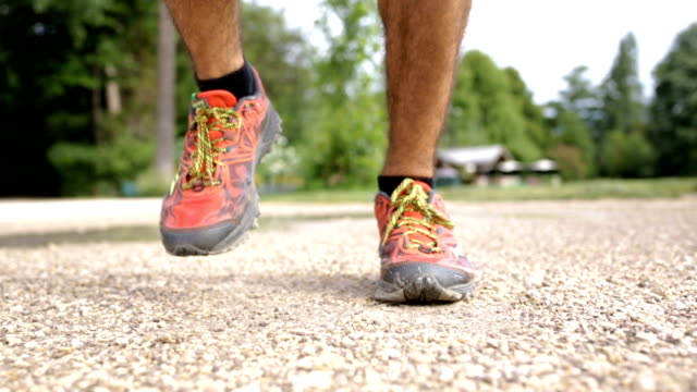 Man Jumps On With His Sport Shoes Before Leaving To Run video