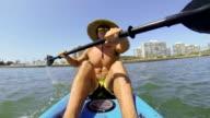 POV Man Kayaking In Summer video