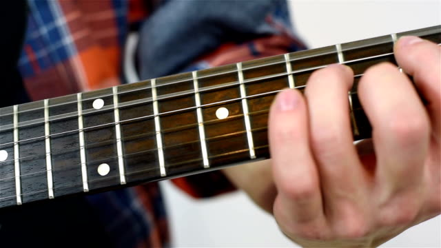 Man Learning To Play Guitar video