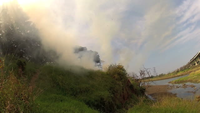 Man made fire in Durban Connaught junction video