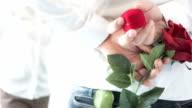 Man making proposal with wedding ring. video