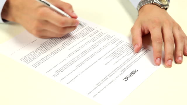 Man not signing a contract video