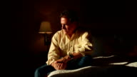 Man on Bed Contemplating video